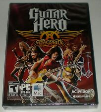 GUITAR HERO AEROSMITH ACTIVISION PC MAC DVD-ROM TEEN GAME NEW FACTORY SEALED