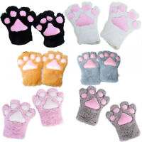 Lovely Cosplay Anime Fancy Party Costume Plush Glove Cat kitty Paw Warm Soft Hot