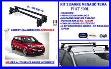 Barre Portatutto Portapacchi Portabagagli Acciaio - Fiat 500 L  5pt 2015