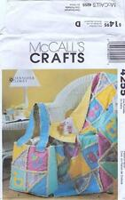 4255 McCalls Crafts Sewing Pattern Rag Quilt and Diaper Bag for Baby