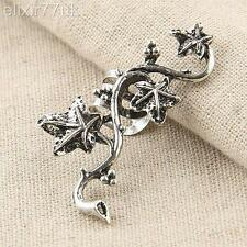 UK HOT VINTAGE SILVER OR GOLD MAPLE LEAFS RIGHT EAR CUFF PUNK EMO WRAP EARRING