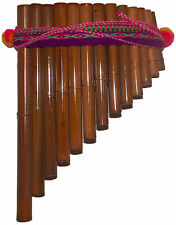 ARTESANAL CURVED  ANTARA ANDEAN PAN FLUTE-13 PIPES FROM PERU ITEM IN USA