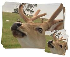 Cheeky Baby Deer Stag Twin 2x Placemats+2x Coasters Set in Gift Box, ADE-5PC