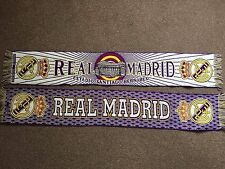 REAL MADRID VINTAGE FOOTBALL SCARFS X 2 ESTADIO SANTIAGO BERNABEU