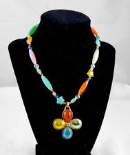 PHILIPPE FERRANDIS GLASS PENDANT NECKLACE