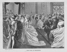MANCHESTER Fancy Dress Ball in the City - Antique Print 1870
