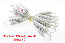[100pcs] Crystal Vision Samsung White 5630 LED Module Lens 1.20W IP68 Korean LED