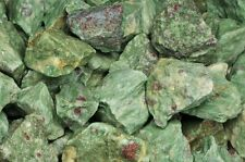 18 Pounds of Natural Ruby Zoisite Rough Stones - Cabbing, Tumble Rocks, Reiki