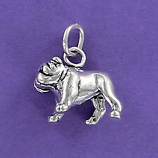 Bulldog Charm Sterling Silver for Bracelet Large Churchill Mascot English Muscle