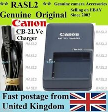 Genuino, originale Canon charger,cb-2lve NB-4L IXUS 50 55 60 65 70 75 80 100