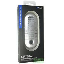 NEW GENUINE SUPERTOOTH CRYSTAL SILVER IN CAR SPEAKERPHONE FOR SAMSUNG GALAXY 3
