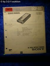 Sony Service Manual DCP 85 DC Pack Battery Charger (#3412)