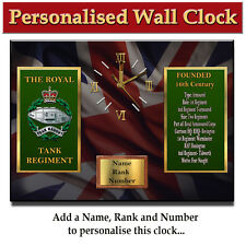 Personalised Royal Tank Regiment Army Military Wall Clock Gift
