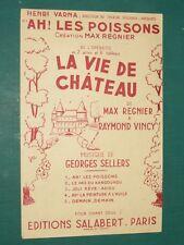 """Partition Chant """"Ah ! les poissons"""" SELLERS VINCI"""