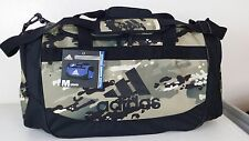 NWT ADIDAS DEFENSE MEDIUM DUFFEL Khaki Camo Print Sport Gym Travel Bag Luggage