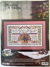 "Bucilla Counted Cross Stitch ""To Everything a Season Sampler"" Kit #1705 NEW"
