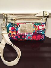 Coach Poppy Pop C Cross Body Multi Color Swingpack Handbag, Excellent Condition