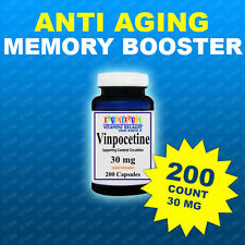 Vinpocetine 30 mg 200 Caps Max Strength  Memory, Brain Health, USA- Top Facility