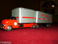 "SSS SHIOJI TIN FRICTION 1953 GMC TRUCK TRAILER  PIE 11"" excellent cond no box"
