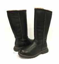 UGG 5490 BROOKS TALL SHEEPSKIN LINED BLACK LEATHER US SIZE 6 -NEW