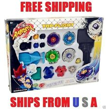 Beyblade Launcher Grip Metal Fusion Toy Set 4D Masters Fight Rapidity Rare#