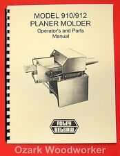 BELSAW FOLEY 910, 912 Planer Molder Operator's & Parts Manual 0061