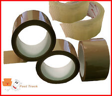1 x Roll Each of Brown and Clear Polyprop Parcel Packing Tape 48mm x 66M