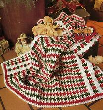 PRETTY Candy Stripe Baby Afghan/Crochet Pattern INSTRUCTIONS ONLY