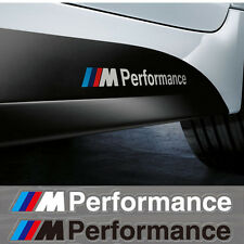 2 Black BMW M Motorsport Performance Logo Decal/Badge/Sticker/Adhesive/M3/M5/M1