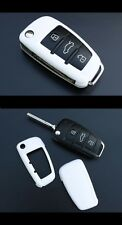 Audi Remote Flip Key Cover Case Skin Shell Cap Fob Protection Hull S-Line White