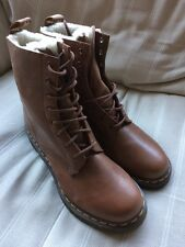 Dr Martens Women's Serena Boots Brown Fleece Lined UK 9