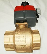 Valworx 560024A Electric Actuated Brass Ball Valve 3in NPTF 115-240V New CW617N