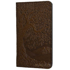 TREE OF LIFE Oberon Design Leather CHECKBOOK HOLDER/Cover in Chocolate oak CKM17