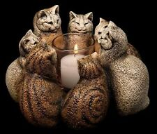 Circle of Cats Candle Lamp Windstone Editions Centerpiece M Pena  #MH2009