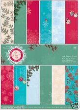 Papermania A4 Bellissima moderne Noel papier 36 paquet holly flocons de neige