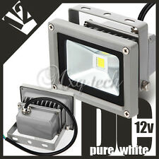 Waterproof 10W 800LM DC 12V High Power Pure White LED Wash Light Floodlight NEW