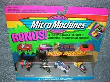 BACKROADS COLLECTION #21 Micro Machines Set Snowmobile+   w/ Color-Change cars