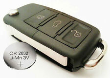 Fits VW Skoda Seat Replacement 3 buttons FOB REMOTE KEY Case+ new battery CR2032