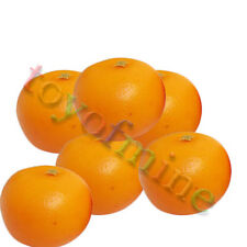 6Pcs Artificial Orange Large - Plastic Decorative Fruit Oranges Fake