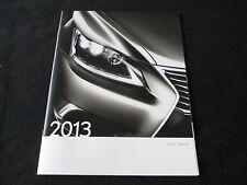 2013 Lexus Catalog IS250 IS350 F Sport LS460 GS ES RX 350 LX570 GX460 Brochure