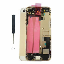 Golden Complete Housing Back Battery Door Cover Mid Frame Assembly for iPhone 5S