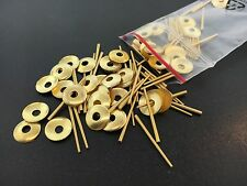 Round Brass Hand Washers and Pins for Antique Clocks set of 50 each