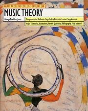 Music Theory (HarperCollins College Outline Series) Jones, George T. Paperback