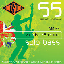 Rotosound SM55 Solo BASS Guitar Strings (40-100)