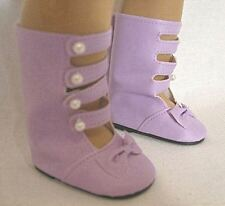 "Lavender Boots for Samantha 18"" American Girl Doll Clothes"
