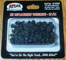 "Atlas N #22136 Plastic 33"" Low Profile Replacement Wheelsets -- For Micro-Trains"