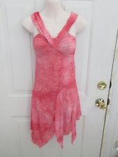 Pink Coral Crinkle Lyrical Dress Dance Costume Large Child LC 12 14