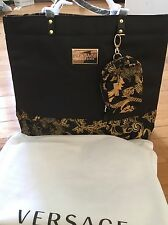 Versace Parfums Tote gym Bag/Purse with matching coin purse NEW !!