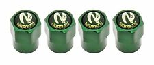 NEW! Set of 4! N2 Nitrogen Green Tire Stem Valve Caps Aluminum *US Seller* Metal