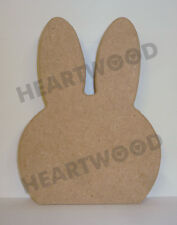 RABBIT HEAD SHAPE IN MDF (148mm x 18mm thick)/WOODEN BLANK CRAFT/DECORATION